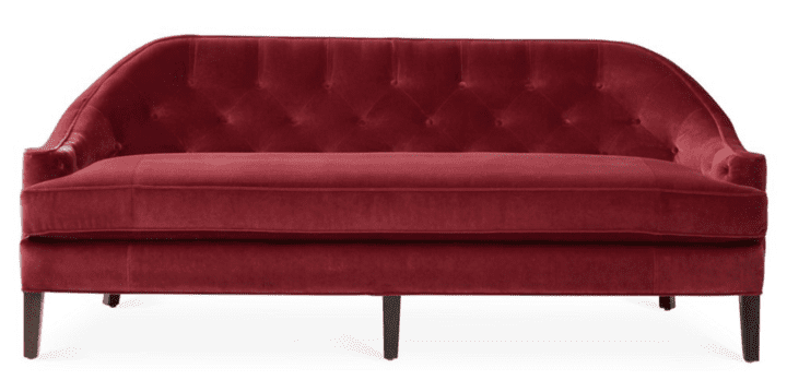 Velvet Furniture and Decor for the Home Red Velvet Couch Decor