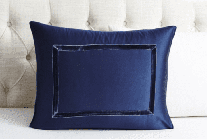Velvet Furniture and Decor for the Home Velvet Collection Sham in Indigo