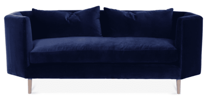 Velvet Furniture and Decor for the Home navy velvet sofa living room ideas