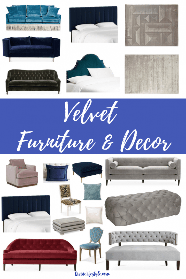 Velvet Furniture and Decor for the Home