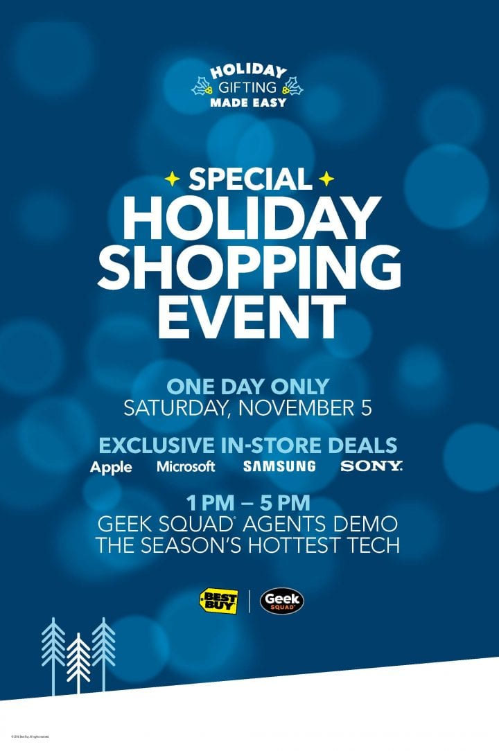Best Buy In Store Holiday Shopping Event 11/5 1-5pm #GiftingMadeEasy