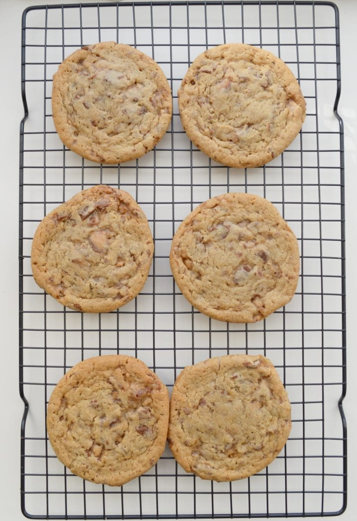 Chewy Butter Toffee Cookies Recipe