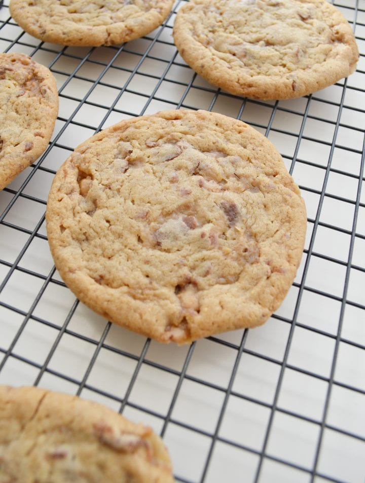 Chewy Toffee Cookies Recipe DivineLifestyle.com