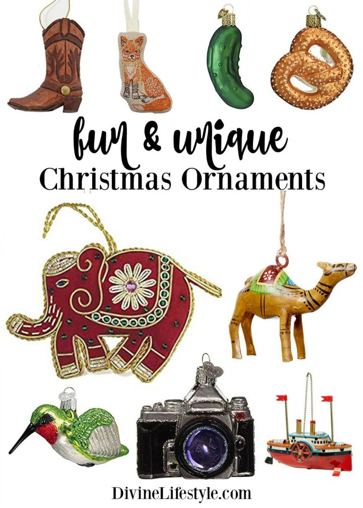 Fun and Unique Christmas Ornaments