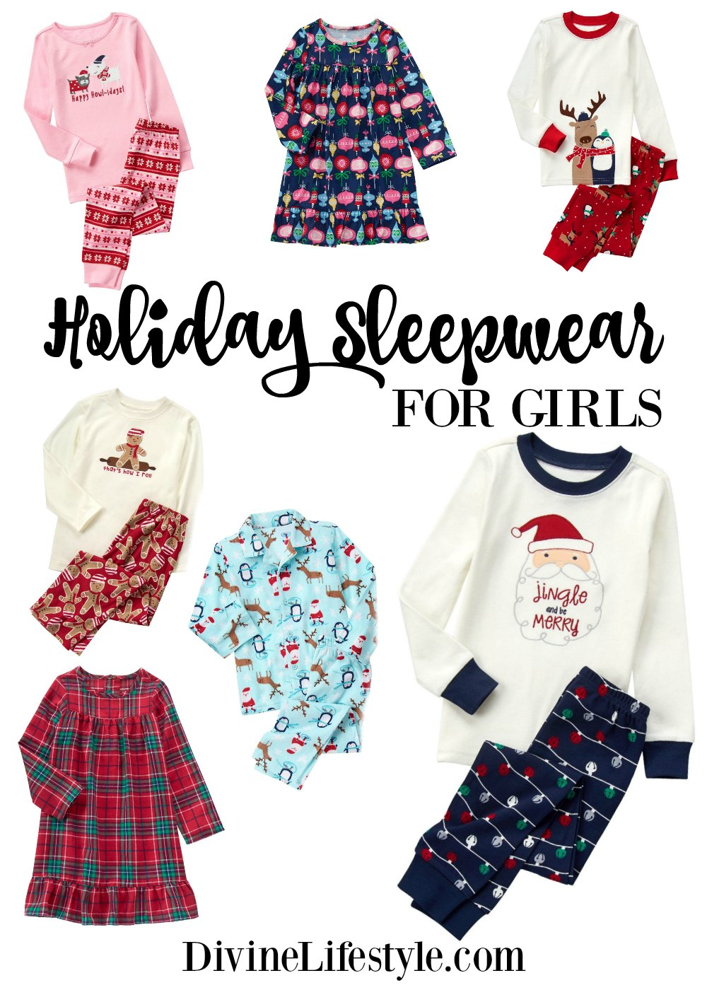 Holiday Sleepwear for Girls from Gymboree