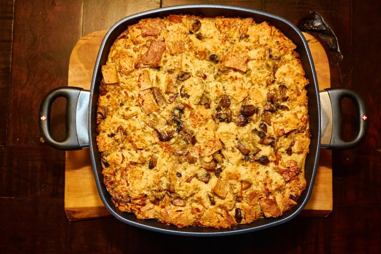 Mushroom Bread Pudding Recipe Swiss Diamond Divine lifestyle