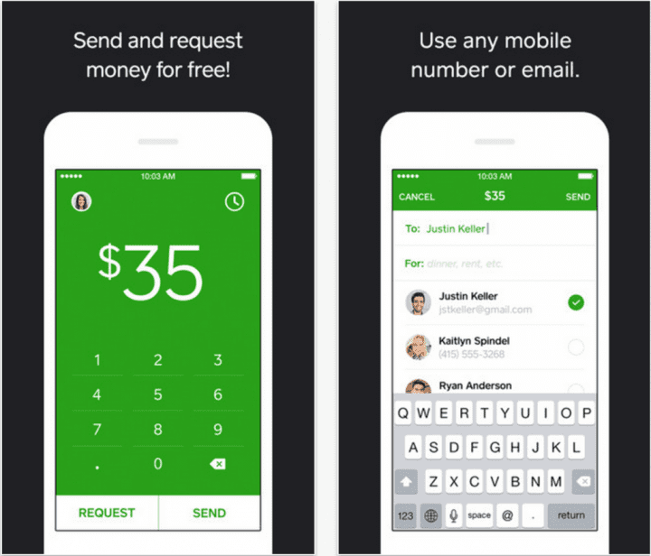 Share the bill with friends with Square Cash