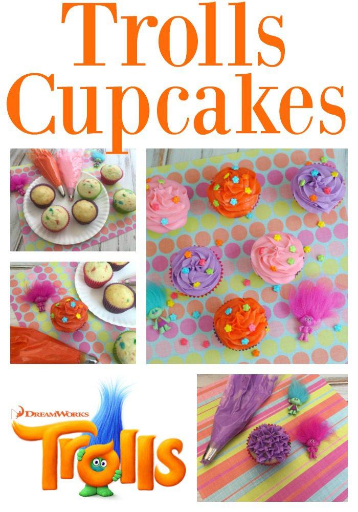 Trolls Cupcakes Recipe #DreamworksTrolls #Trolls