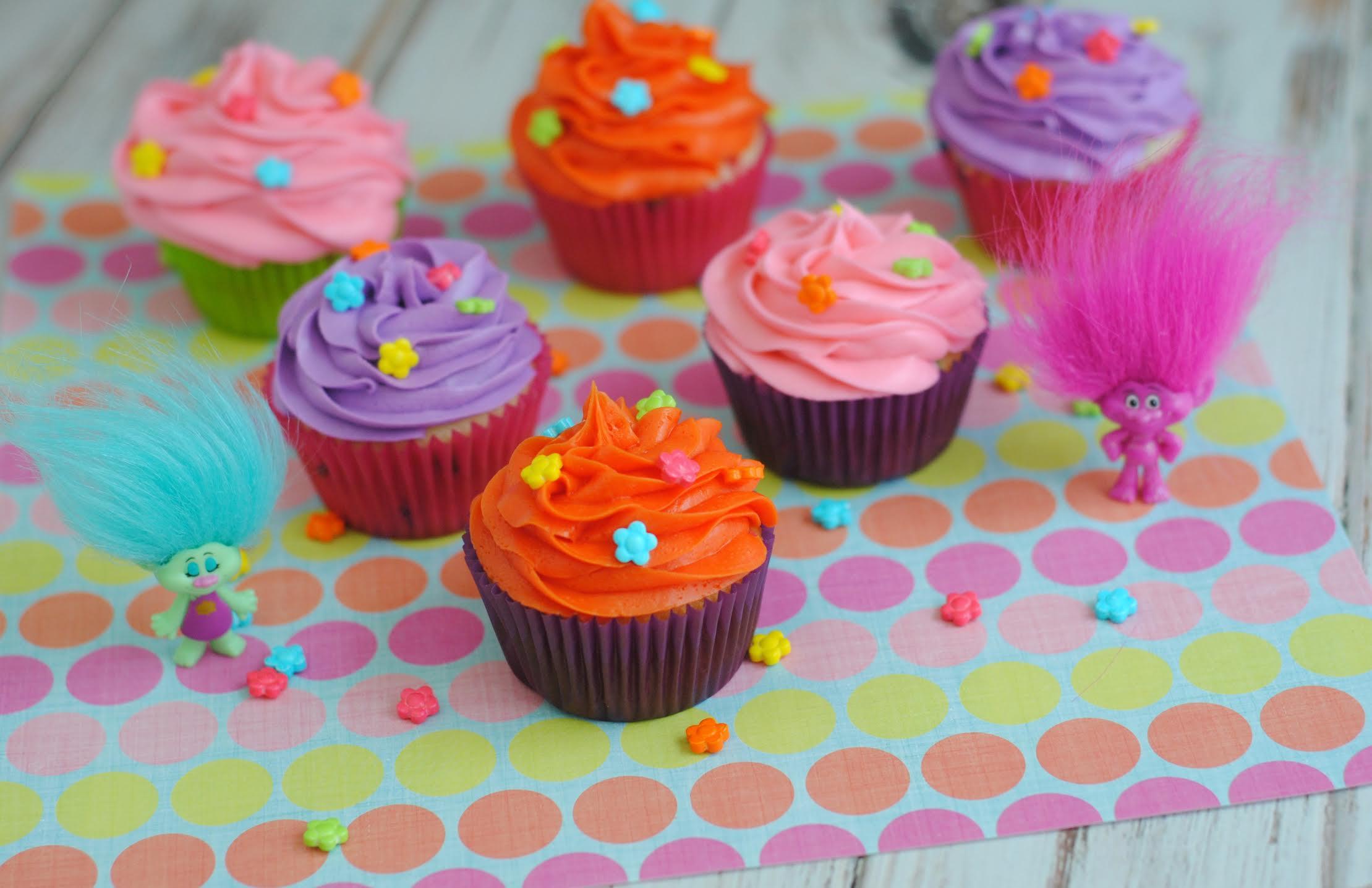 Trolls Cupcakes Recipe Dessert Dreamworks Divine Lifestyle