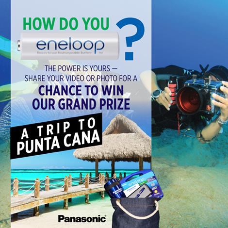 Enter the Panasonic eneloop Sweepstakes