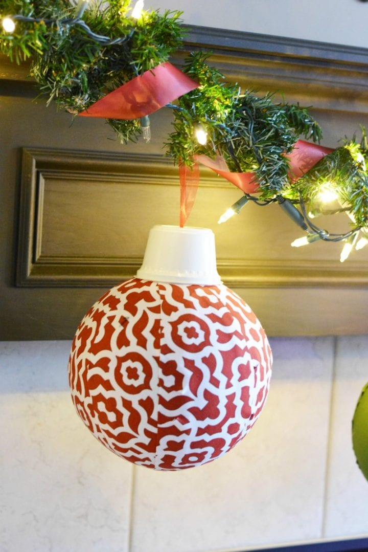 Easy DIY Giant Fabric Ornaments #WaverlyInspirations #InAWaverlyWorld
