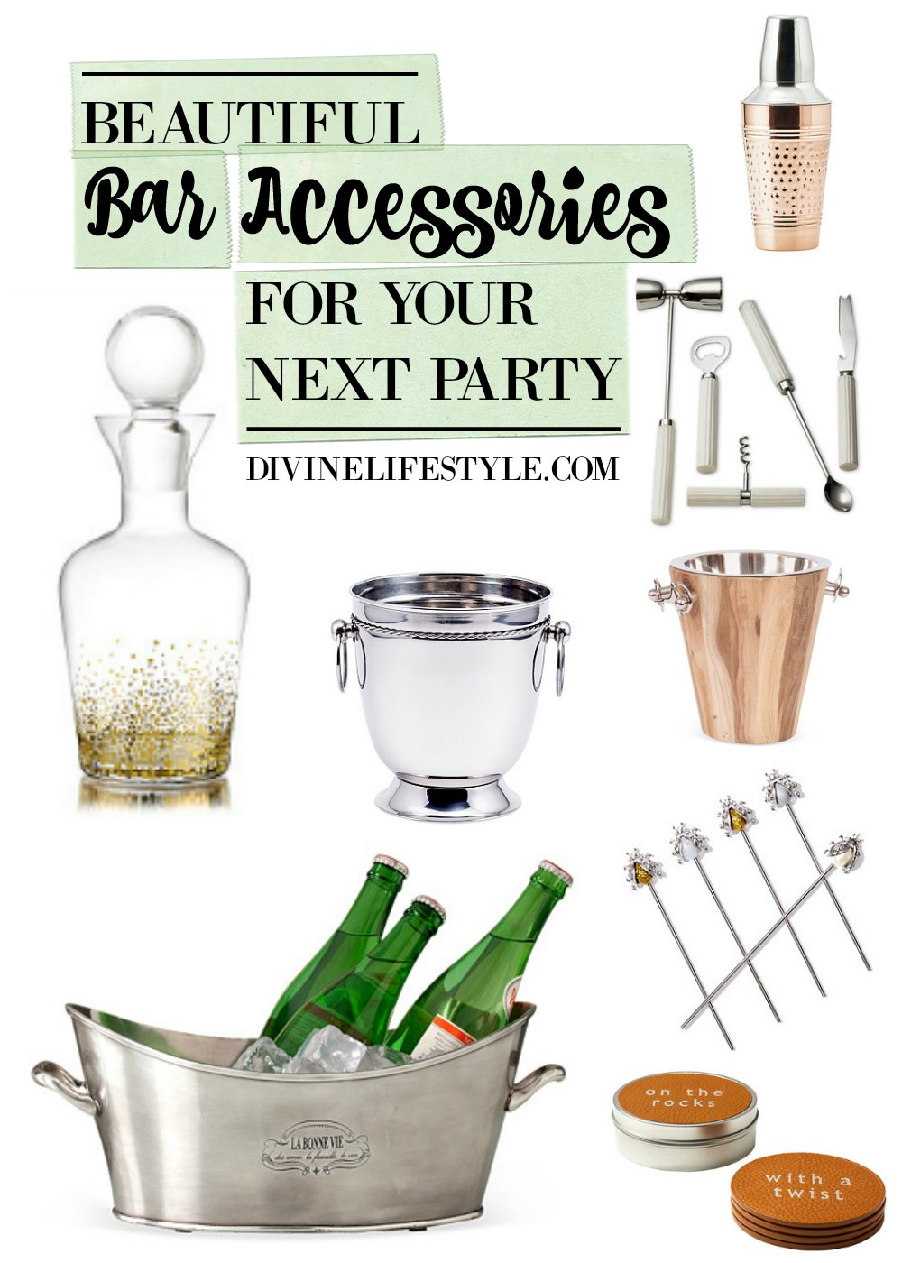 Freshen Up Your Bar Accessories for Your Next Party