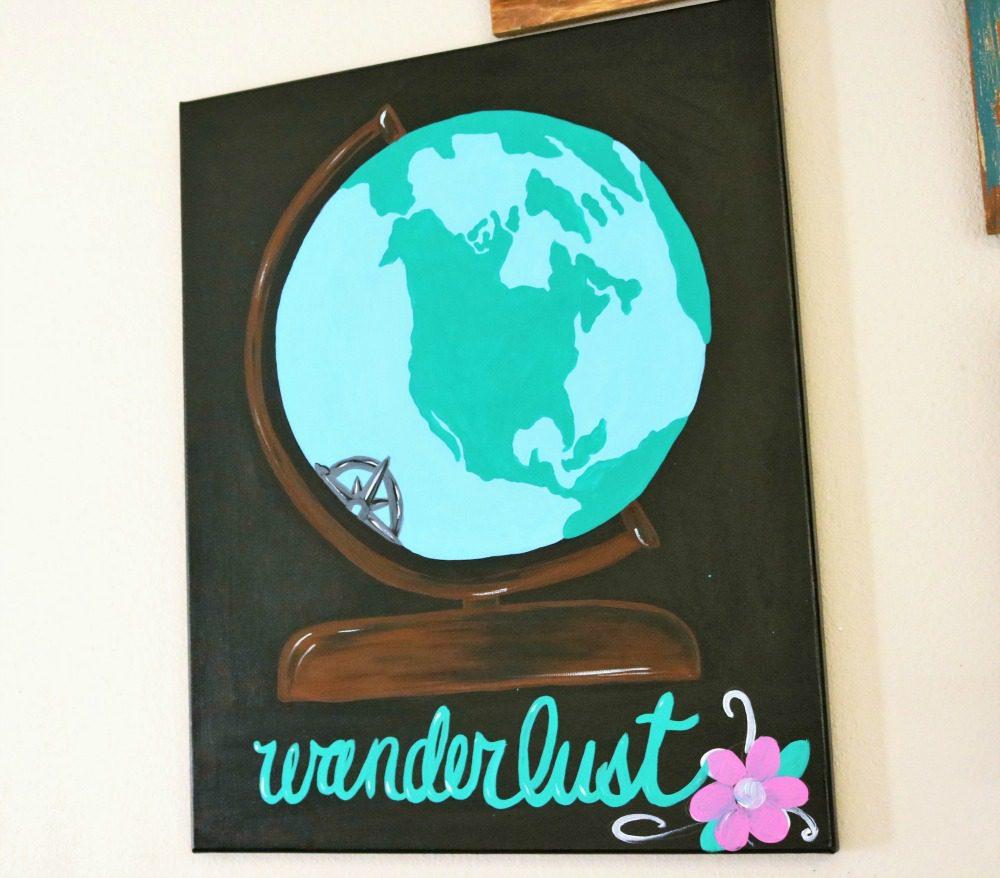 Diy Canvas Globe Painting Artist Craft Divine Lifestyle