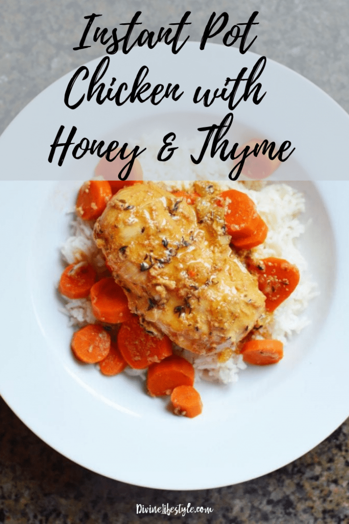 Instant Pot Chicken Recipe with Honey and Thyme