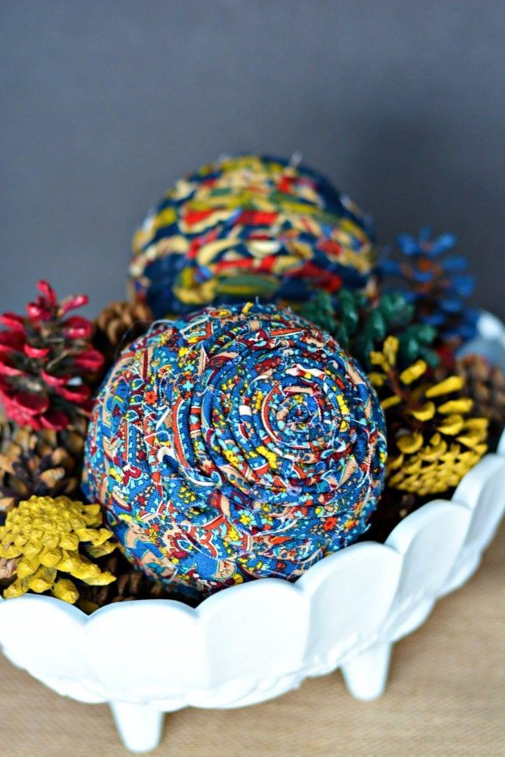 Diy Twisted Scrap Fabric Decor Balls Craft Divine Lifestyle