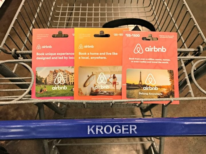Get a Kroger Digital Coupon for $10 off $100 Airbnb gift card