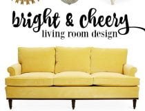 Bright and Cheery Livine Room Design