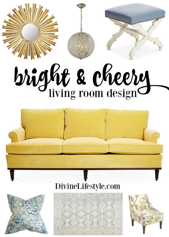 A Bright and Cheery Living Room Design