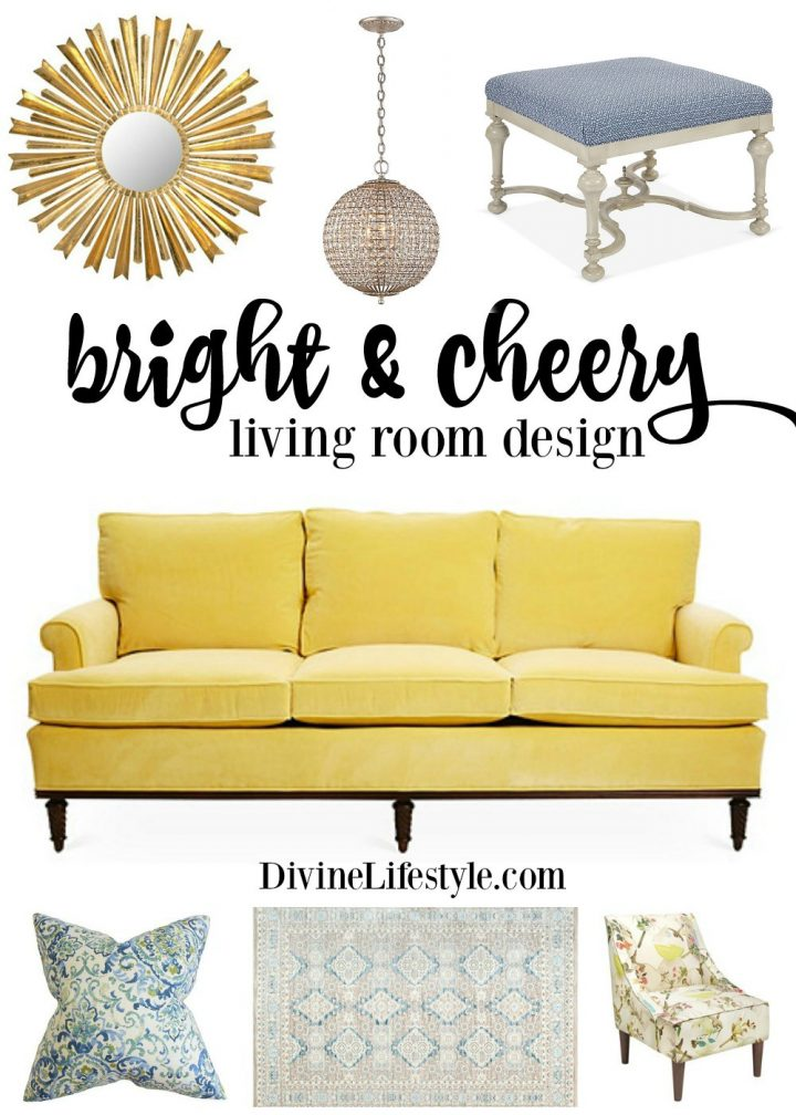 A Bright and Cheery Living Room