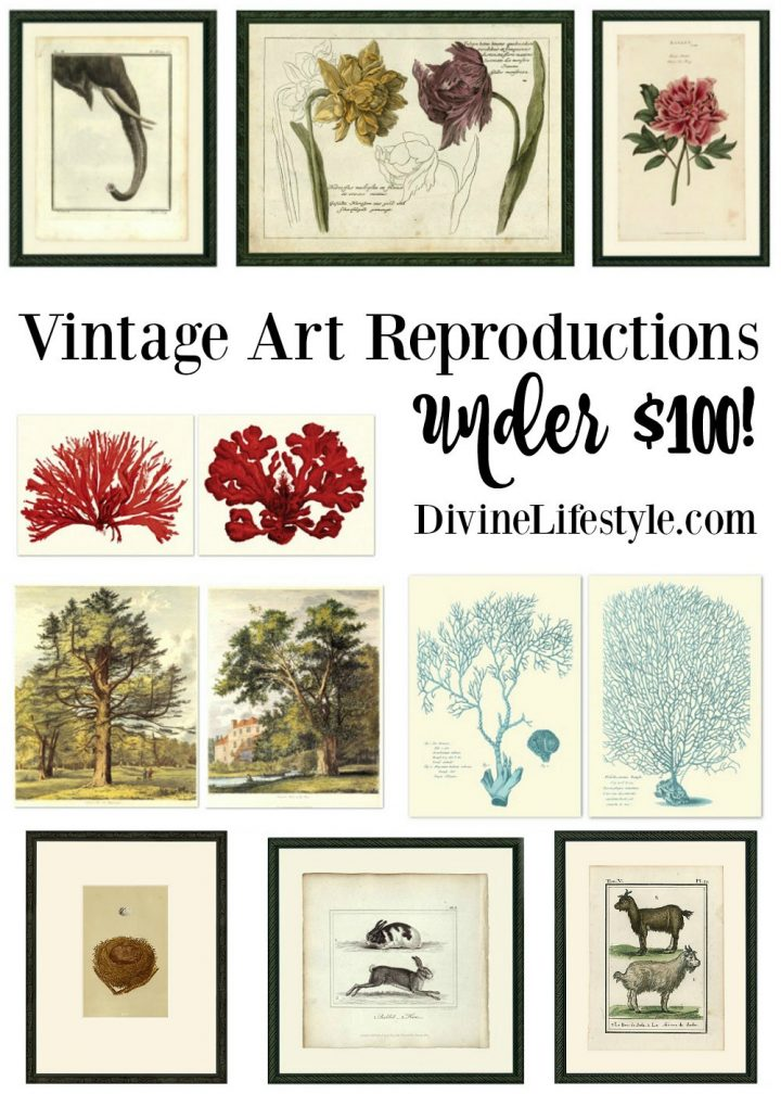 Vintage Art Reproductions Under $100