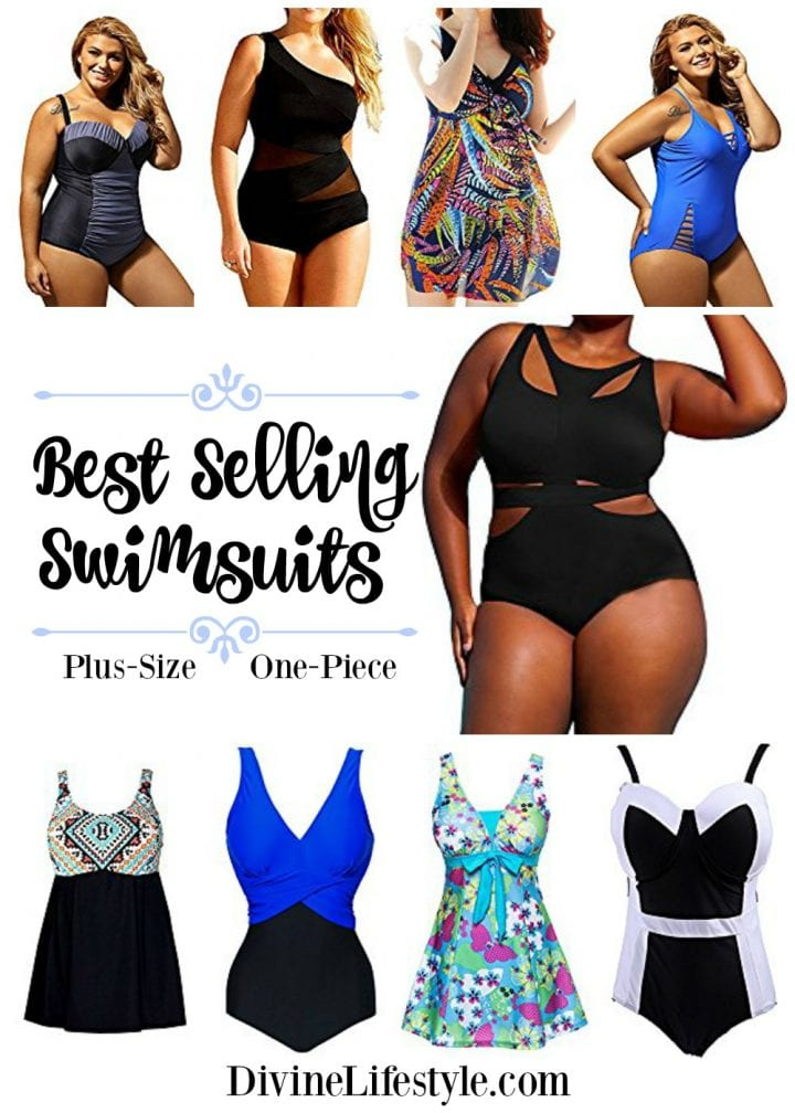 Best Selling Plus-Size Swimwear: One-Piece Bathing Suits