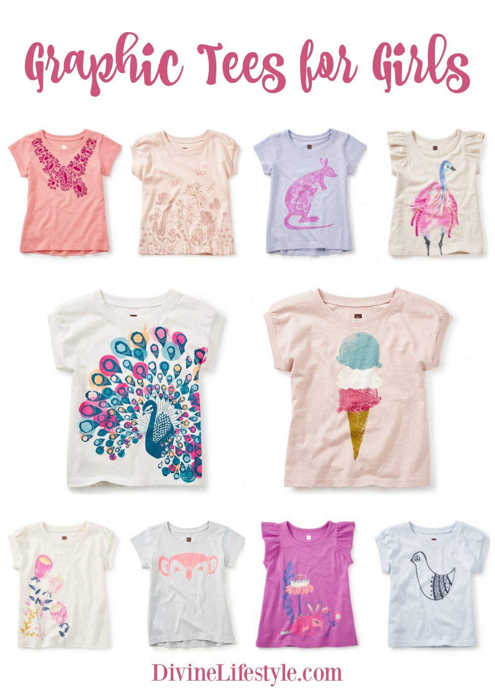 861f67e8ed Sweet Graphic Tees for Girls from Tea Collection Kids Fashion