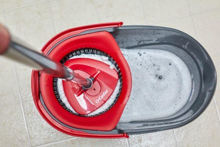 O-Cedar EasyWring Spin Mop and Bucket System #WRINGinSpring