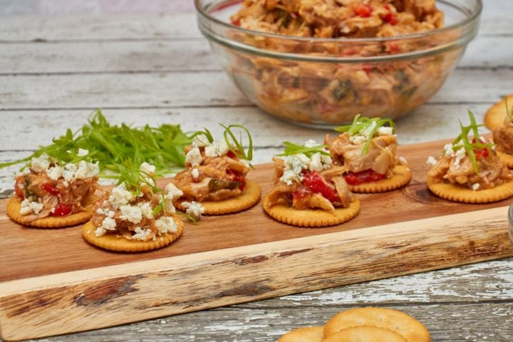 Slow Cooker Buffalo Chicken with Blue Cheese Crumbles Recipe on RITZ Crackers