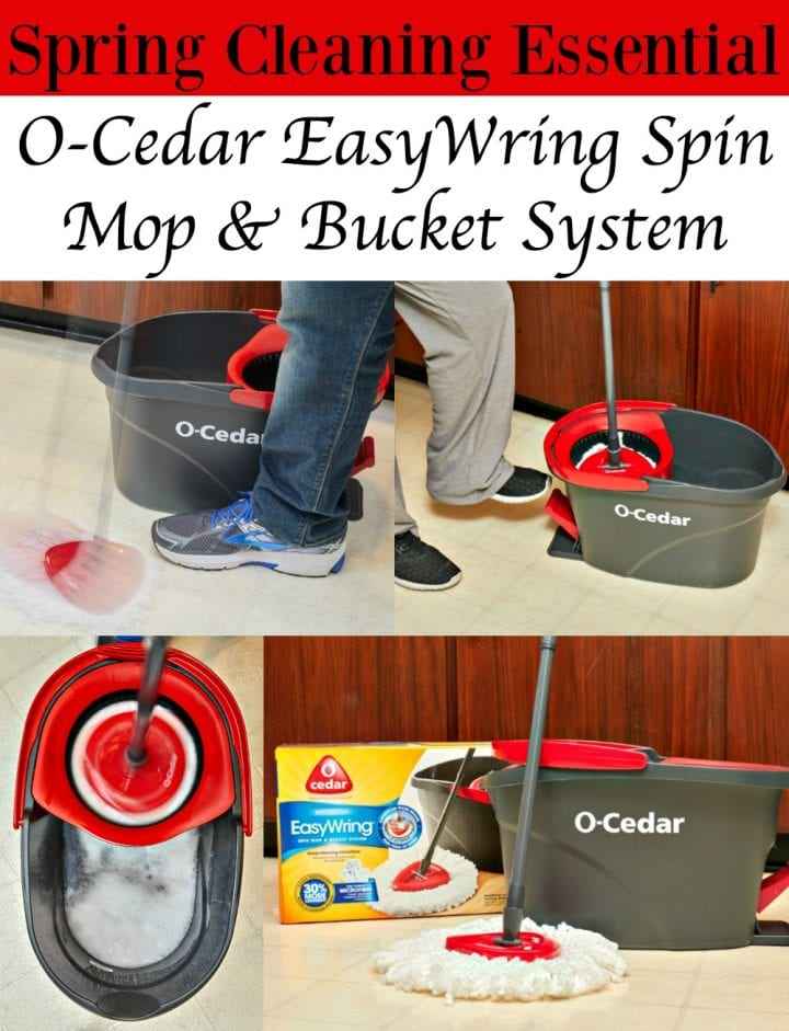 O-Cedar EasyWring Spin Mop and Bucket System #WRINGinSpring
