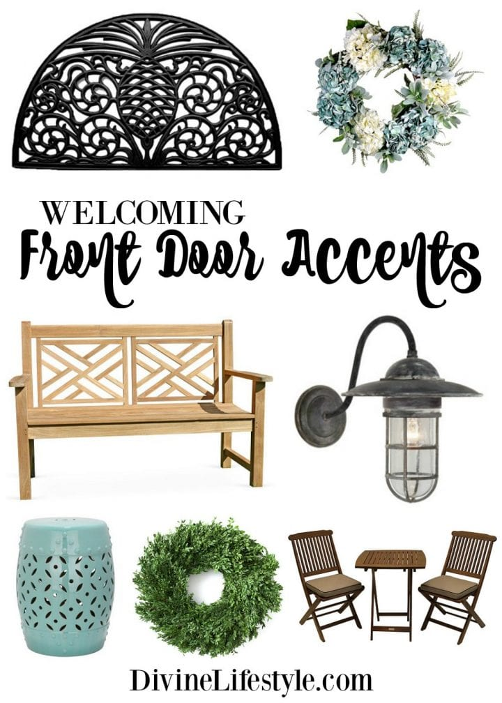 Welcoming Front Door Accents