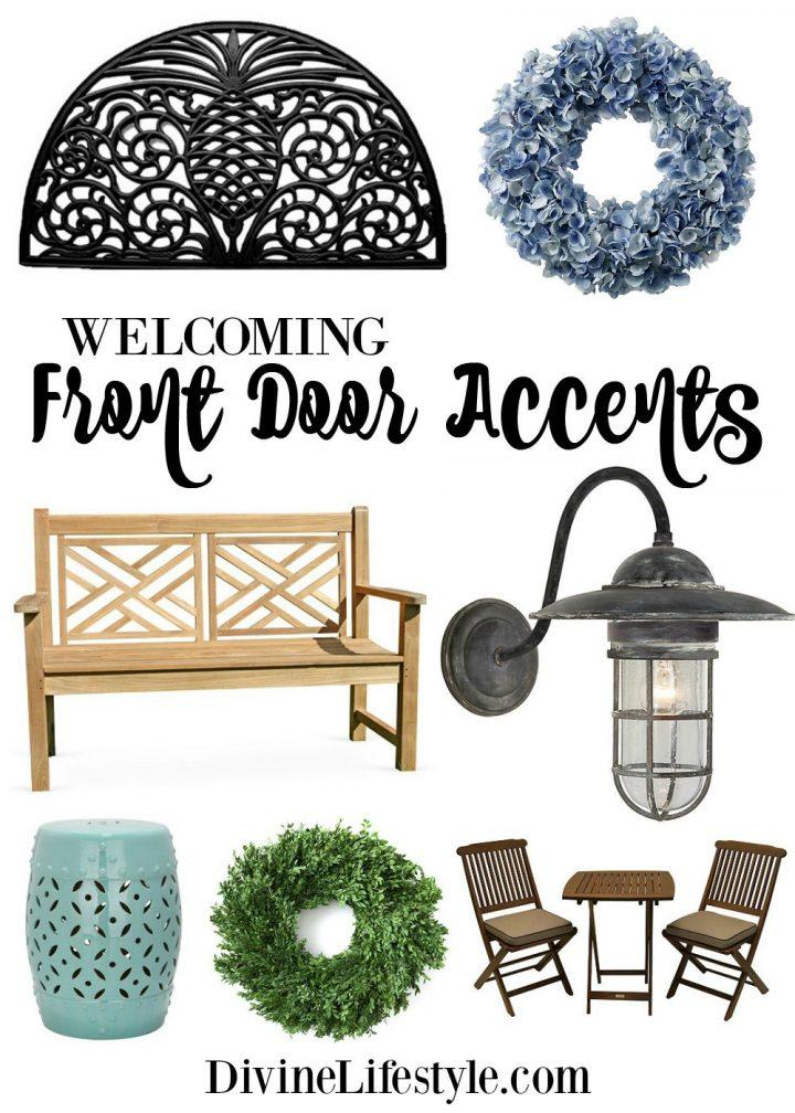Welcoming Front Door Accents
