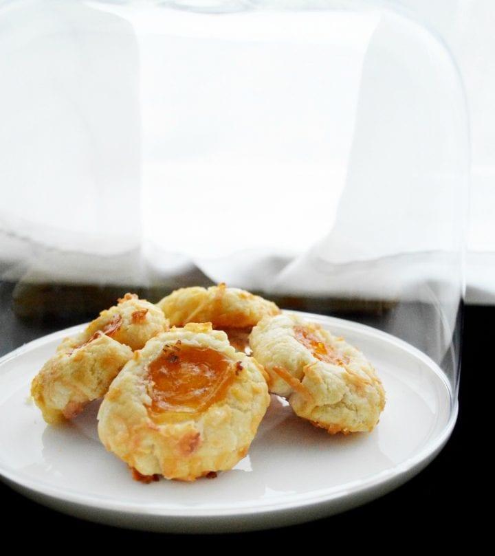 Apricot Coconut Thumbprint Cookies