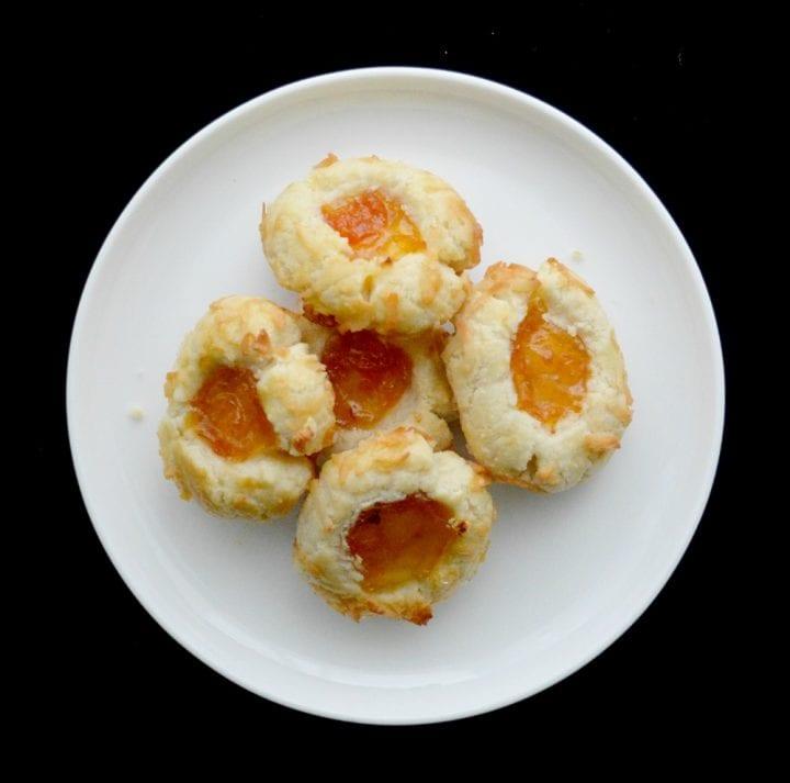 Apricot Coconut Thumbprint Cookies Dessert Recipe