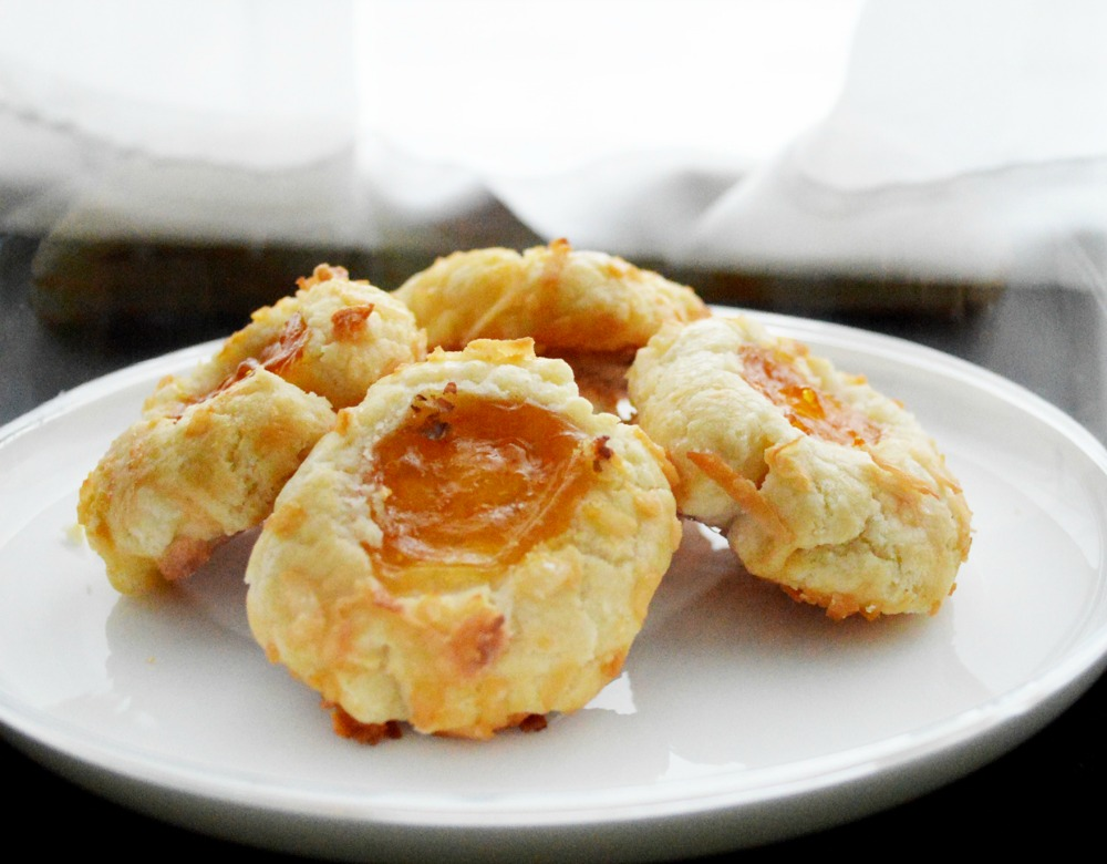 Apricot Coconut Thumbprint Cookies Dessert Recipe