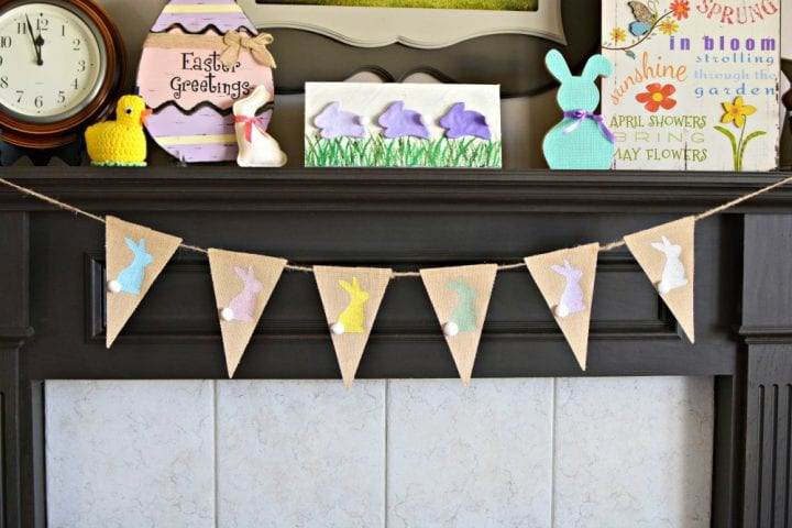 DIY Burlap Easter Bunny Bunting #InAWaverlyWorld #WaverlyInspirations