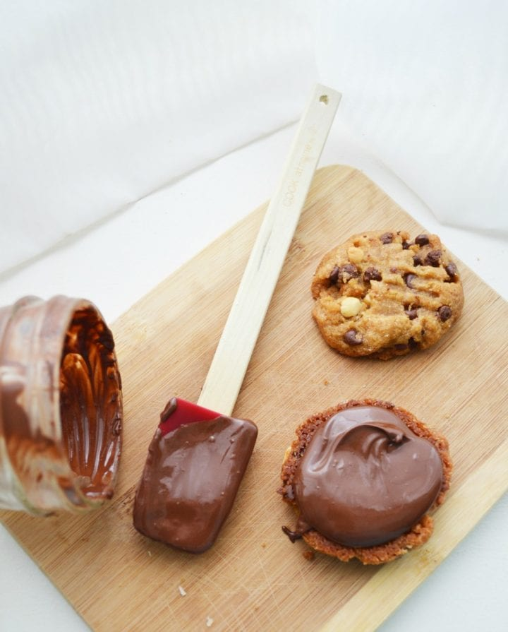 Peanut Butter Sandwich Cookies with Chocolate Filling