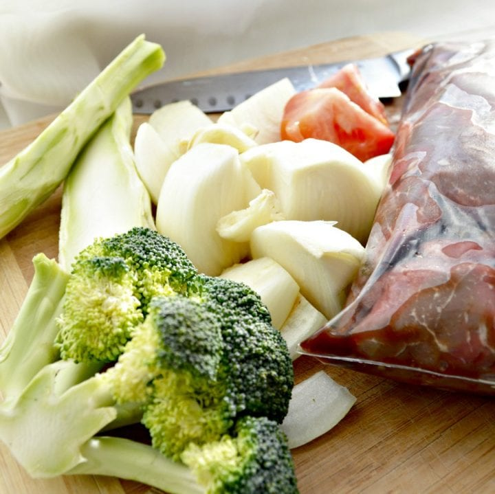 Crockpot Freezer Meal: Beef Stew with Stock Vegetables Recipe