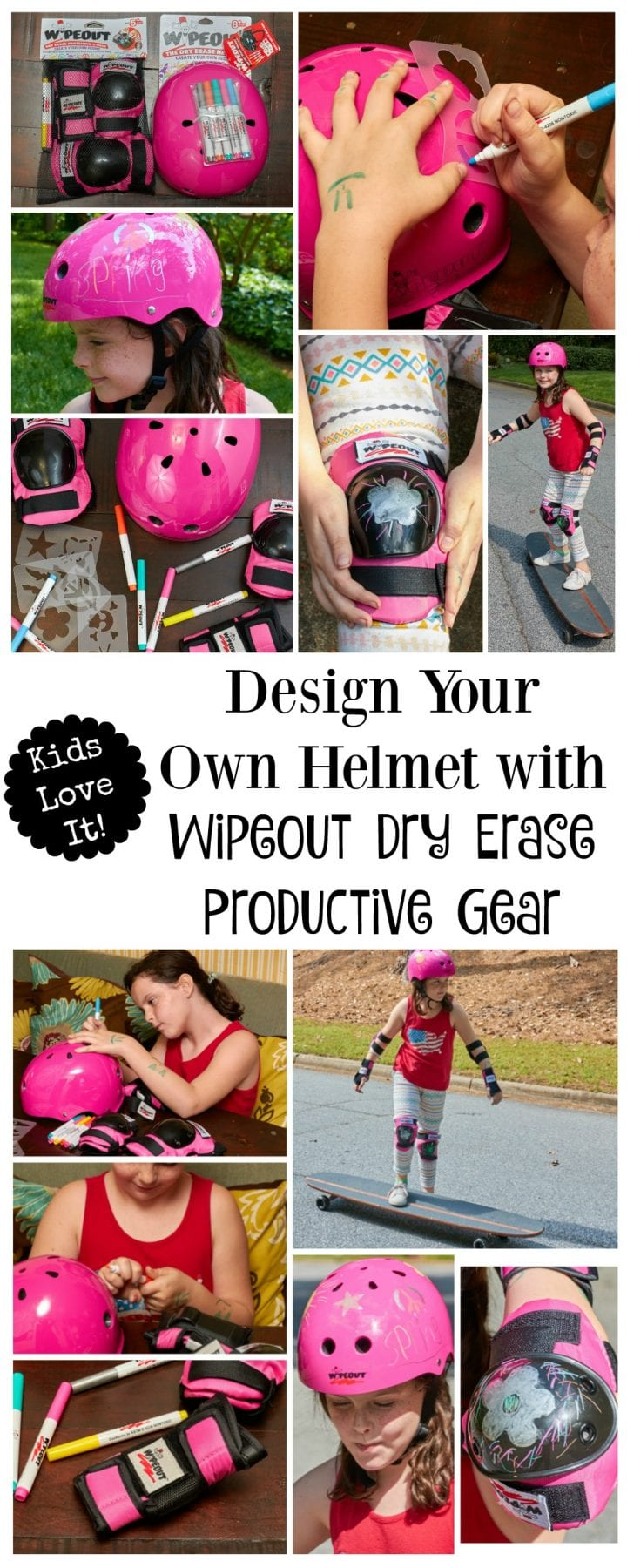 Design Your Own Helmet with Wipeout Dry Erase Productive Gear