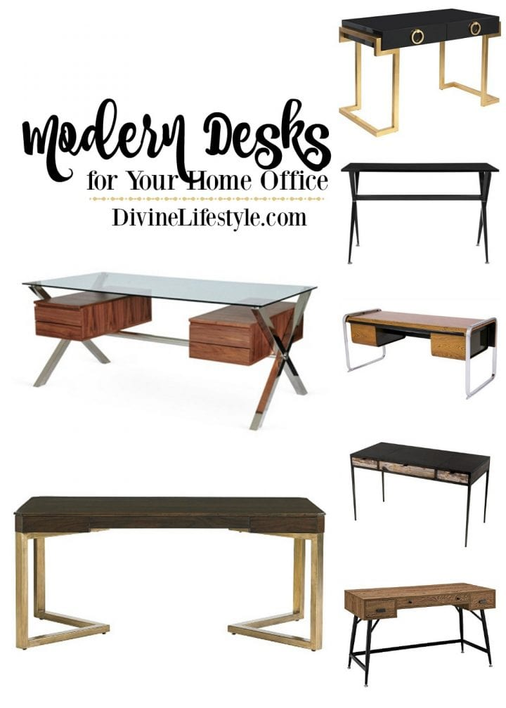 Sleek Modern Desks for the Home Office