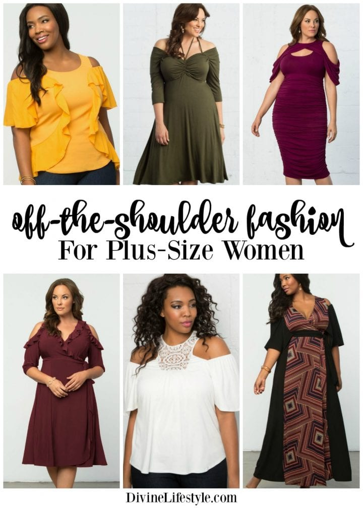 Cold Shoulder Fashion for Plus Size Women