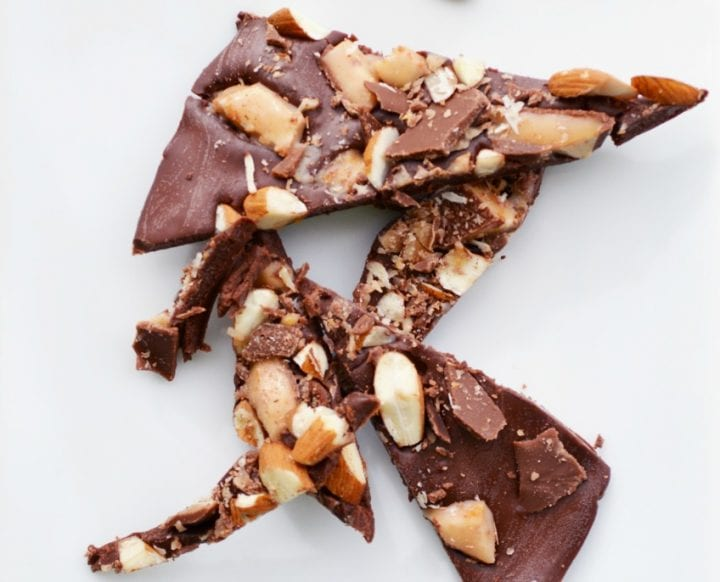 Easy Almond Toffee Bark Recipe - 3 Ingredients