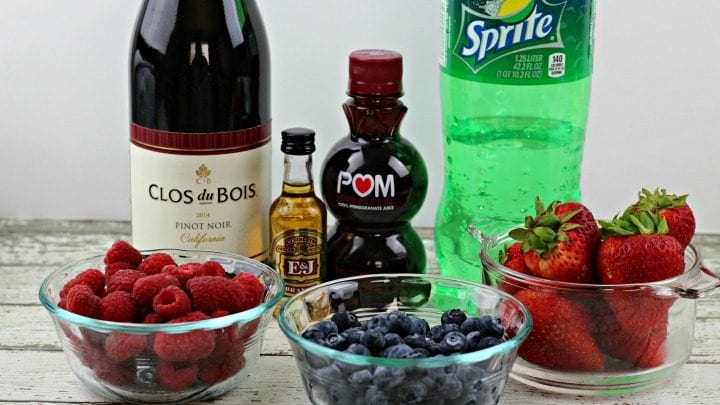 Fruity Sangria Popsicles Recipe ingredients