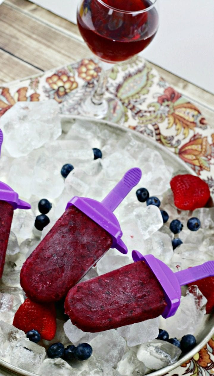 Fruity Sangria Popsicles Recipe top down