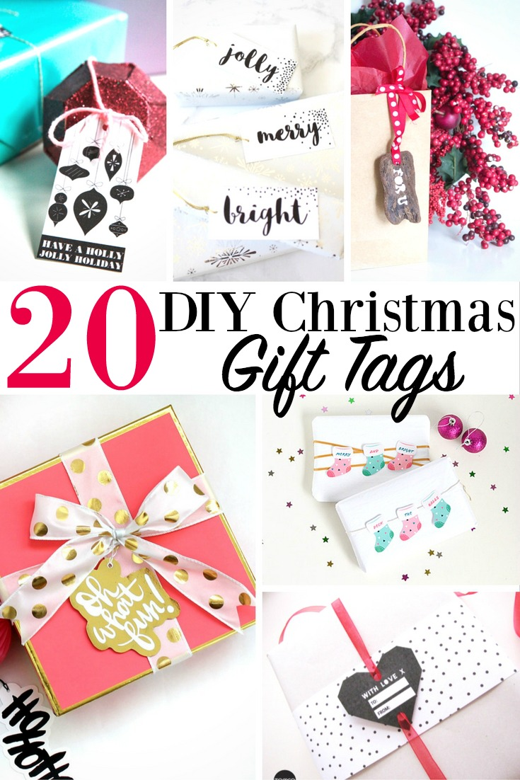 20 DIY Christmas Gift Tags