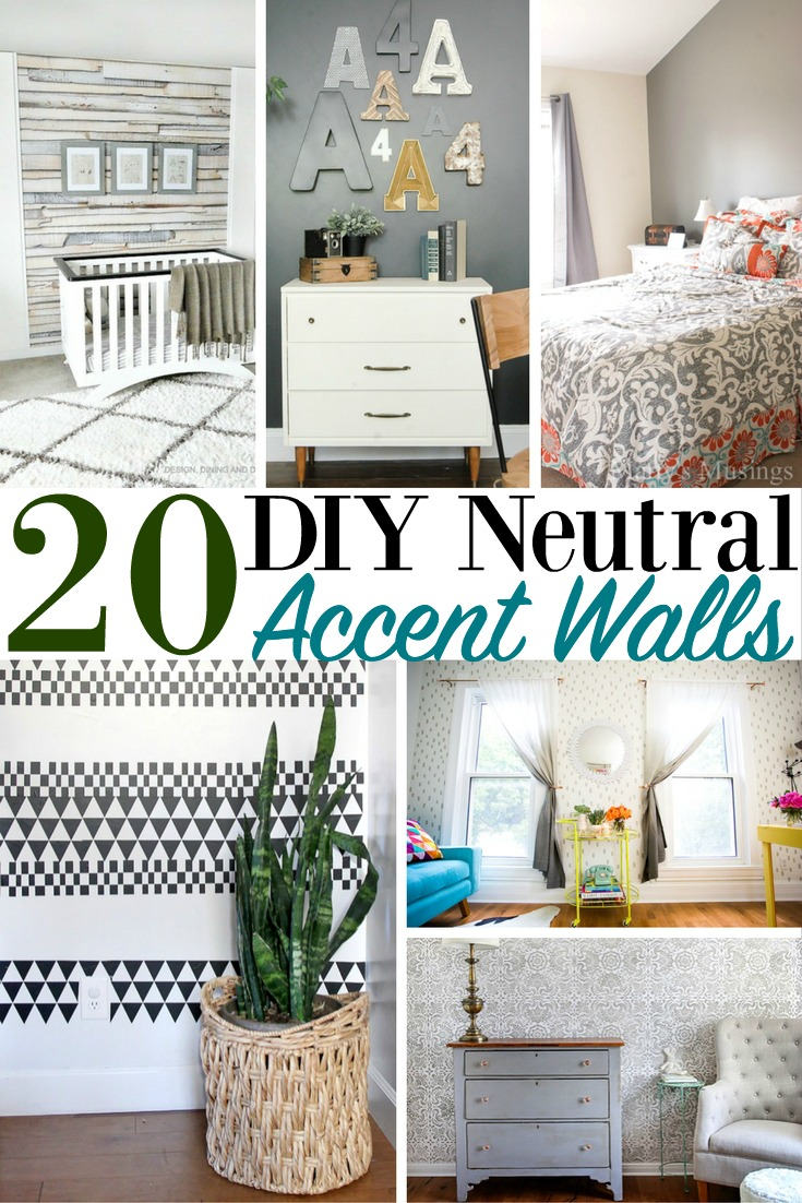 20 diy neutral accent walls home decor accents house
