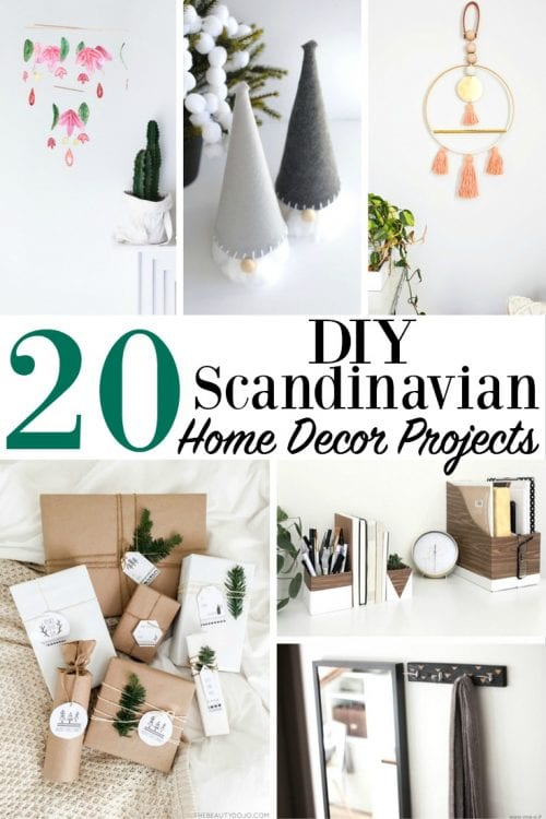 20 DIY Scandinavian Home Decor Projects