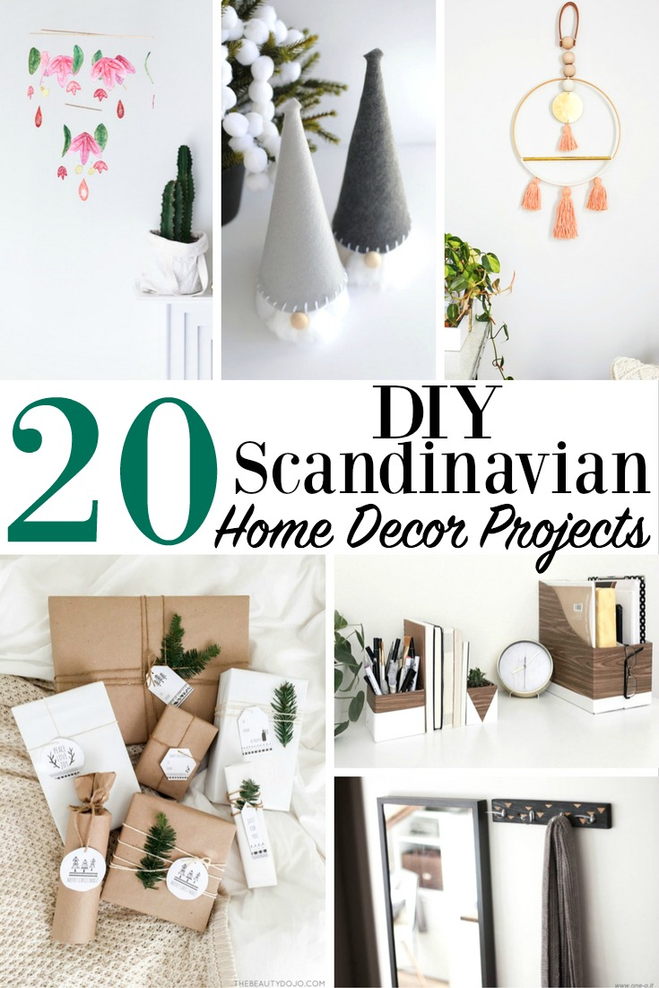20 diy scandinavian home decor projects modern minimalist furniture - Home decoratie moderne leven ...