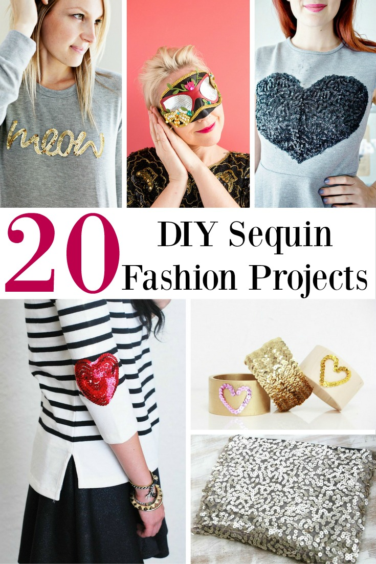 20 DIY Sequin Fashion Projects