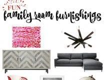 Fun Family Room Furnishings