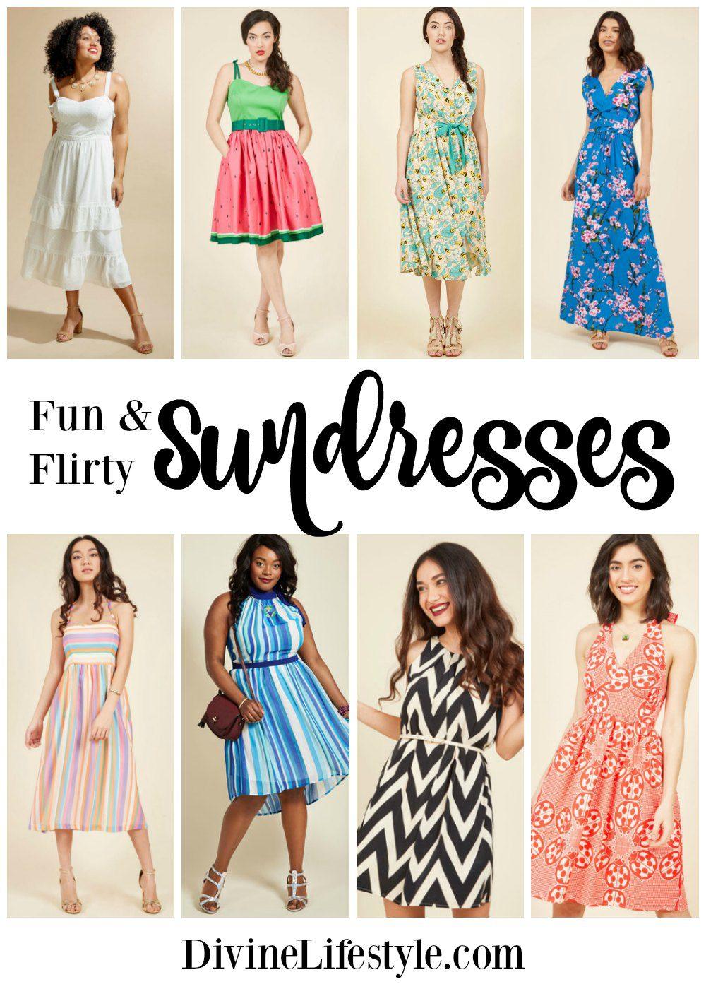 Fun Flirty Sundresses Style Fashion Women Dress